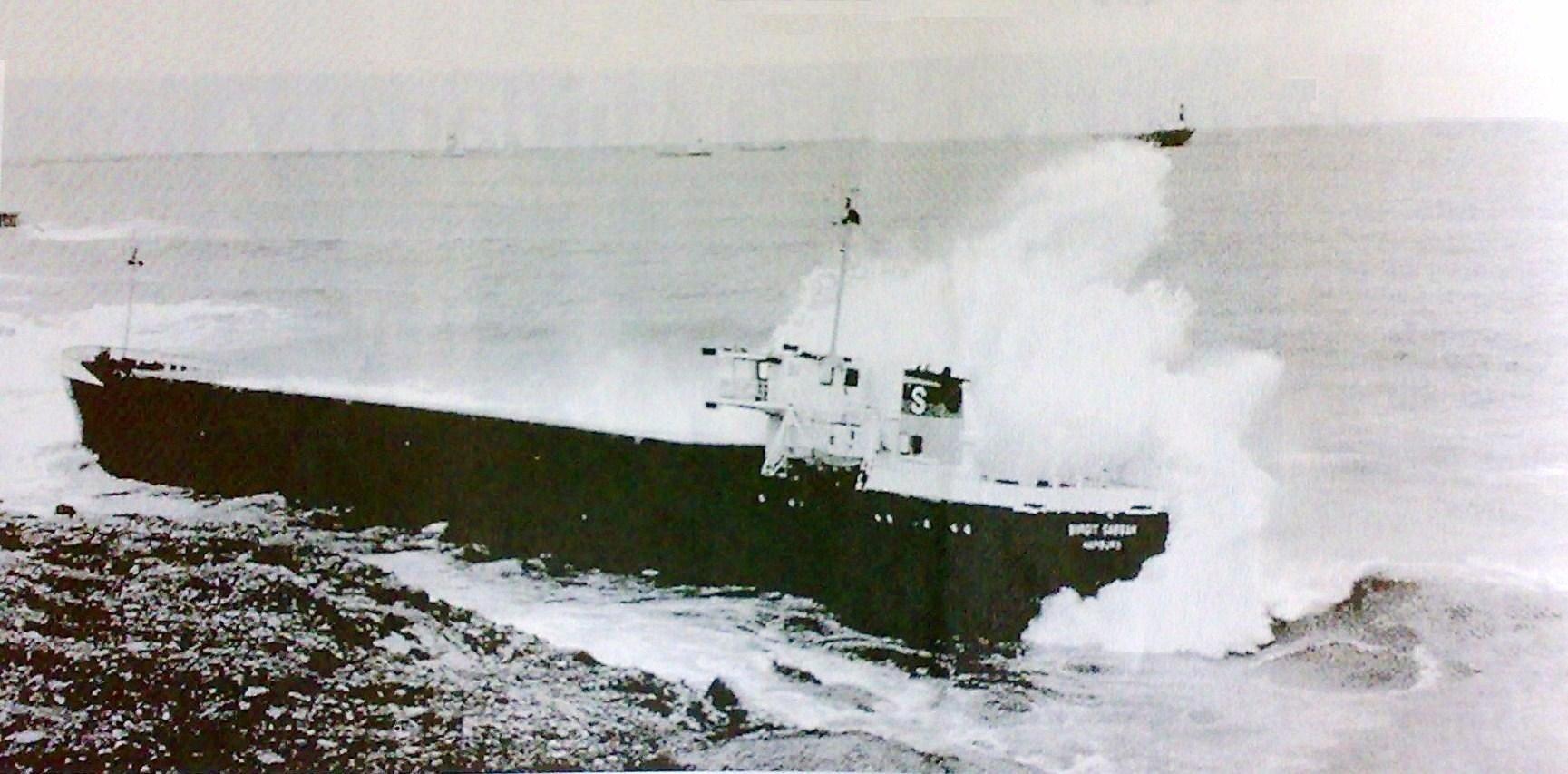 1984 Foto naufragio Birgit Sabban 1