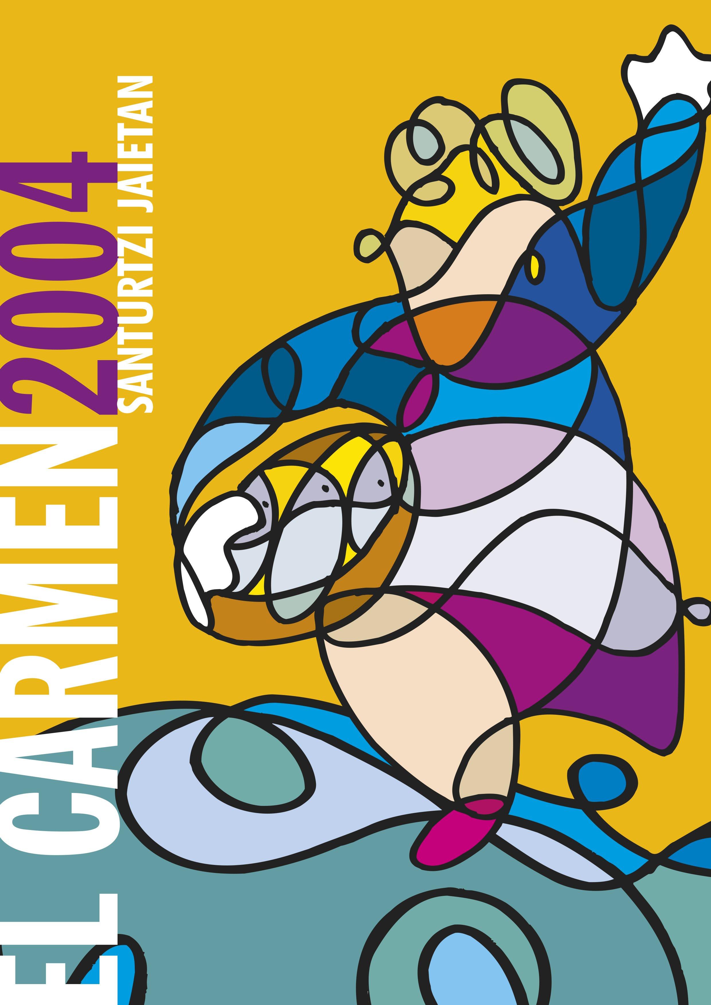 Cartel Fiestas Carmen 2004 (original)