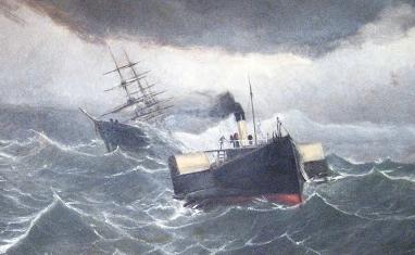 Naufragio Bolivar (oleo-detalle)