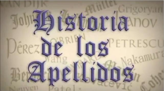 Historia de los apellidos (carátula de video)