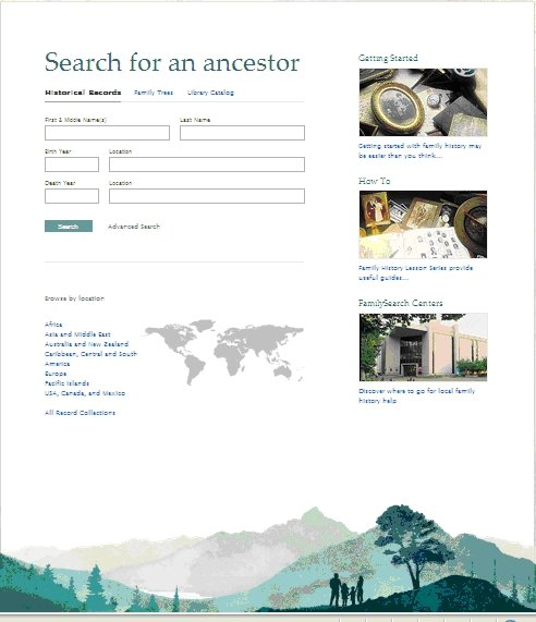 Portada FamilySearch