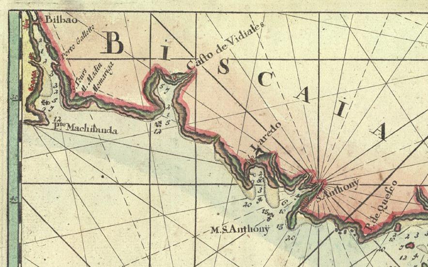 Detalle de mapa de 1734