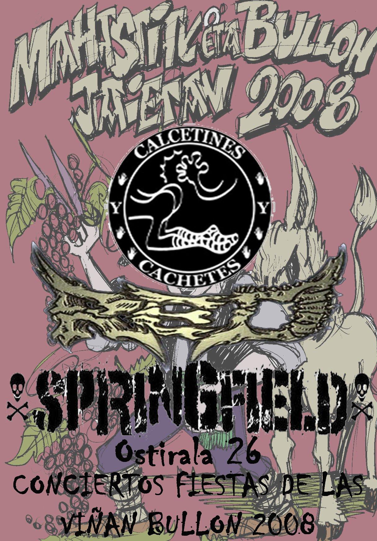 cartel conciertos 2008