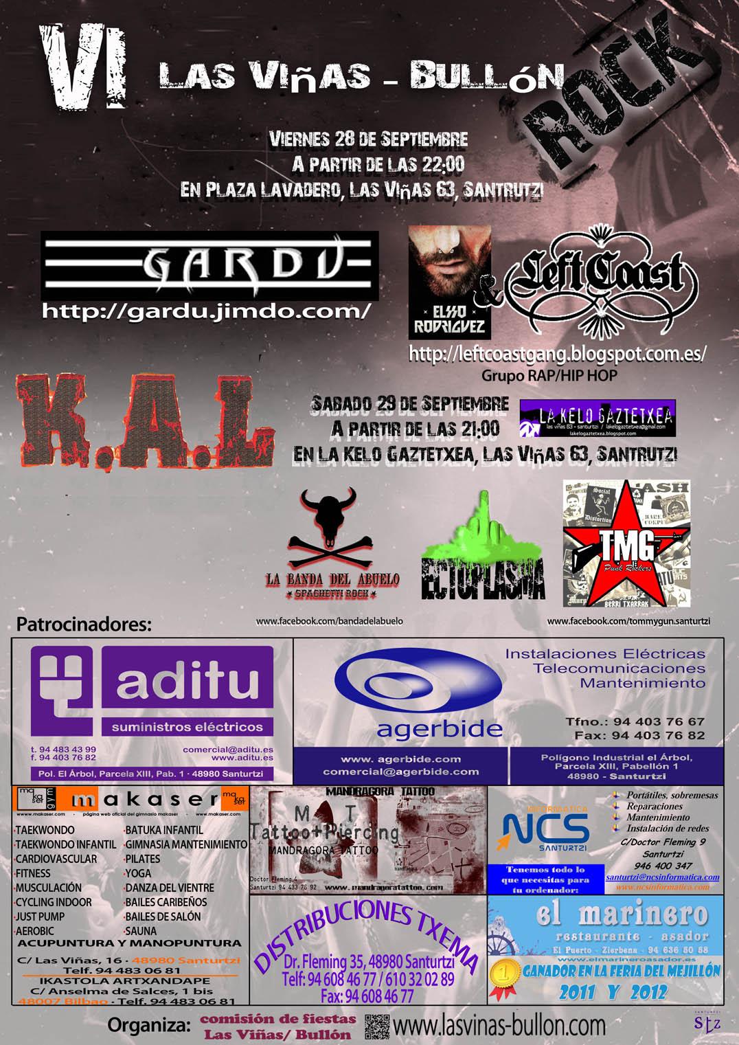 cartel conciertos 2012