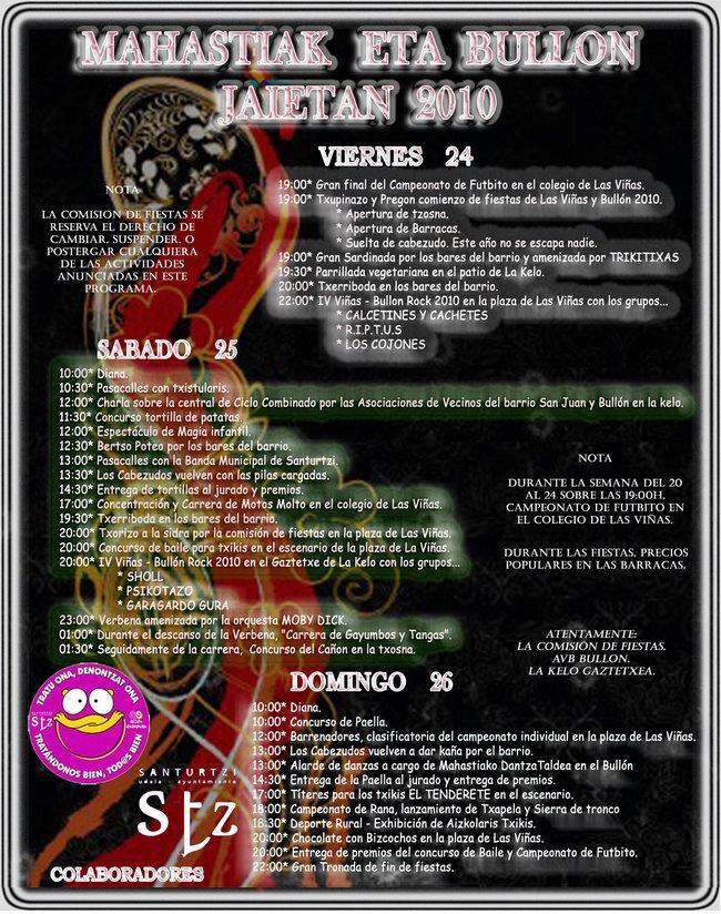 cartel fiestas 2010