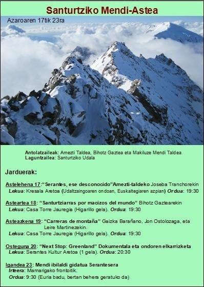 Semana de montaña en Santurtzi (euskaraz)