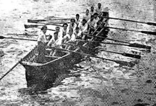 Trainera de Santurce en las regatas de SS en 1929