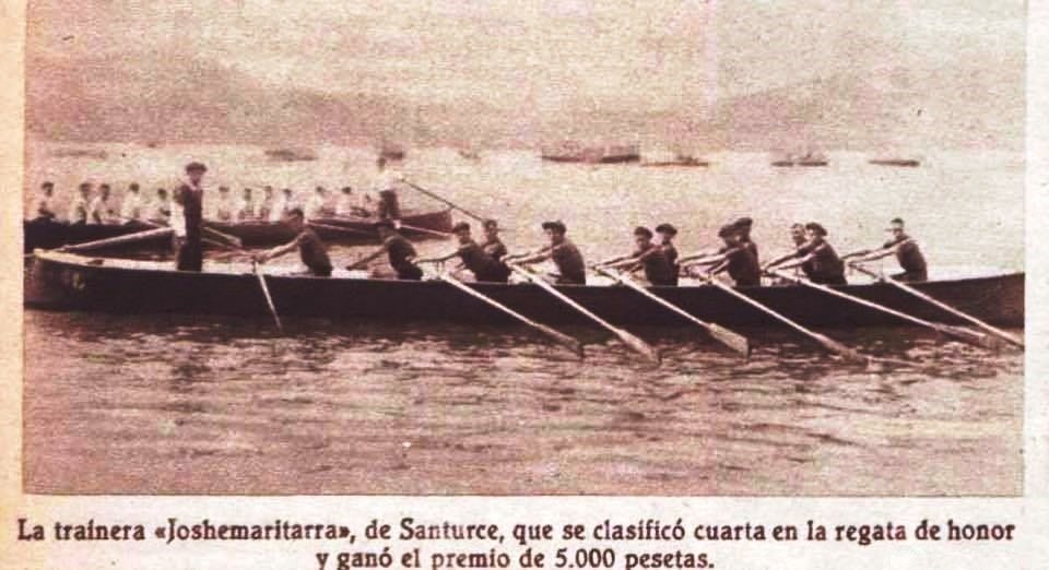 Trainera de Santurce en las regatas de SS en 1933-2