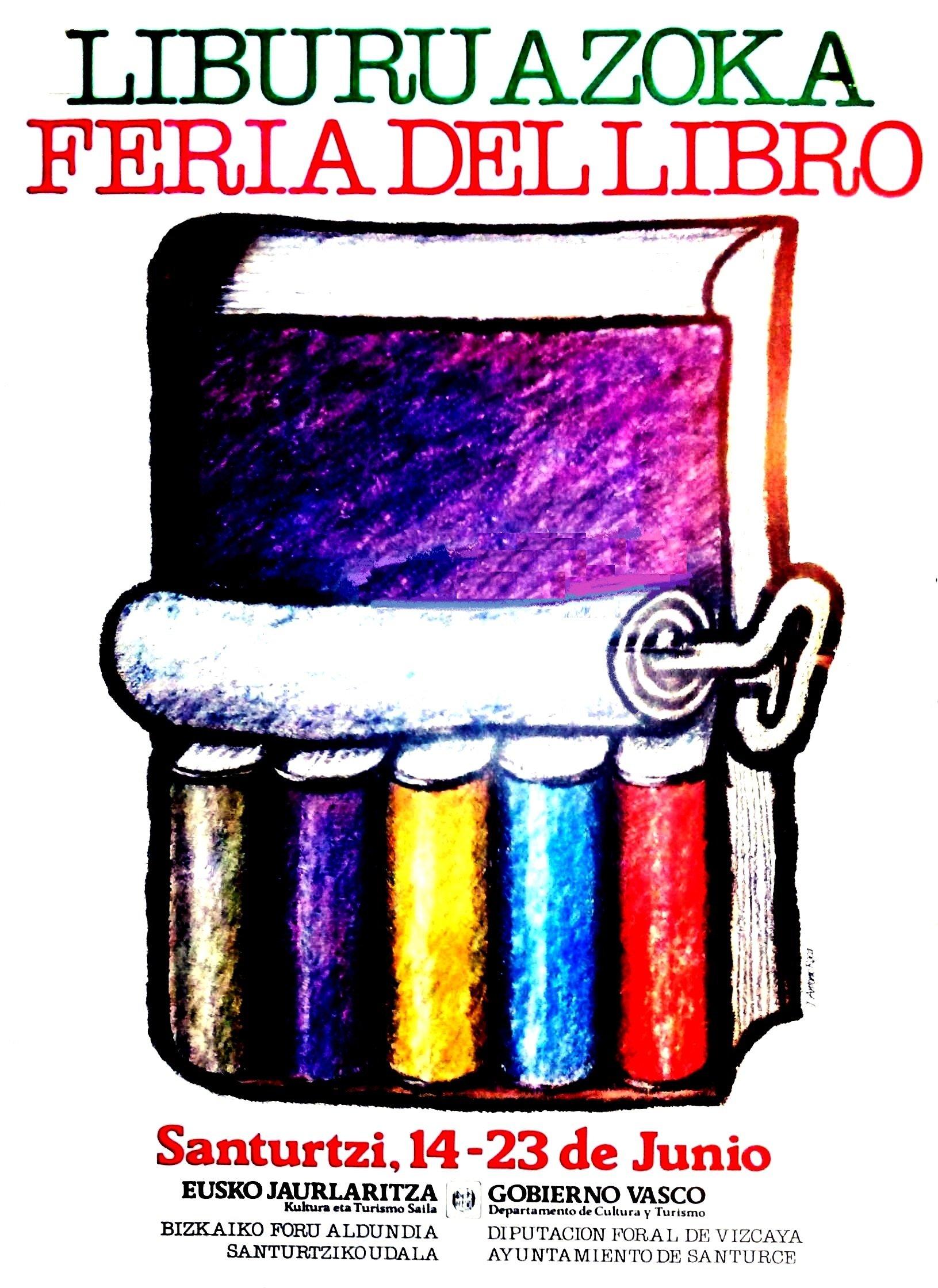 1985 cartel feria libro