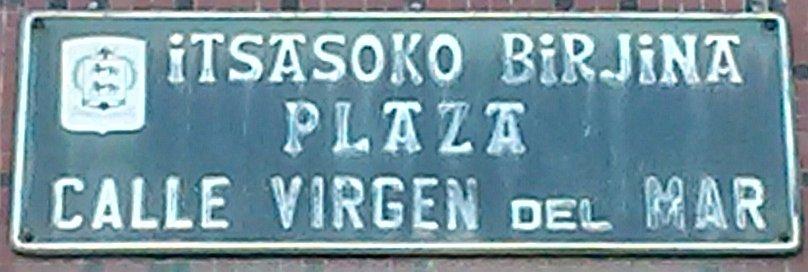 1 Plaza Virgen del Mar (con error en placa)