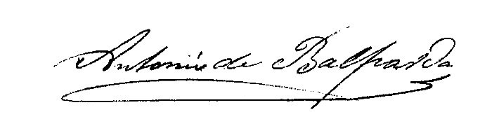 Firma Alcalde - Antonio Balparda