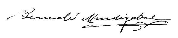 Firma Alcalde - Bernabé Mendizabal