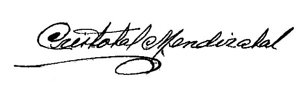 Firma Alcalde - Cristóbal Mendizabal