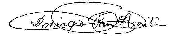 Firma Alcalde - Domingo San Martín