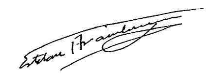 Firma Alcalde - Esteban Aramburu