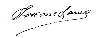Firma Alcalde - José María Larrea