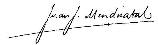 Firma Alcalde - Juan José Mendizabal