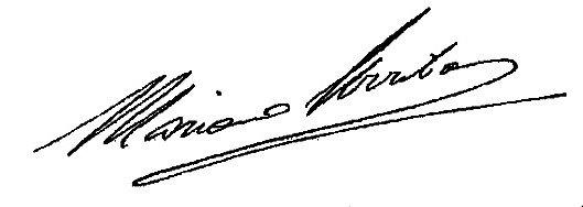 Firma Alcalde - Mariano Arribas
