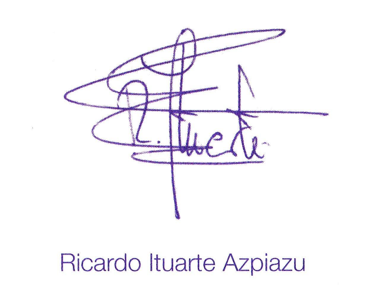 Firma Alcalde - Ricardo Ituarte
