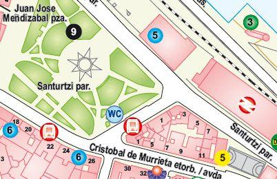 Plano Situación Parque Santurtzi