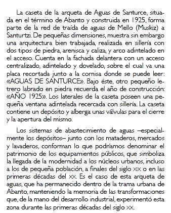 Caseta de arqueta de Aguas de Santurce (texto) - copia