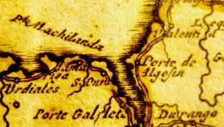 Detalle de mapa de 1714
