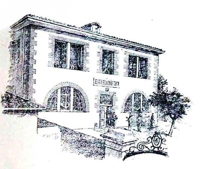 Escuela de Náutica de Santurce en 1896