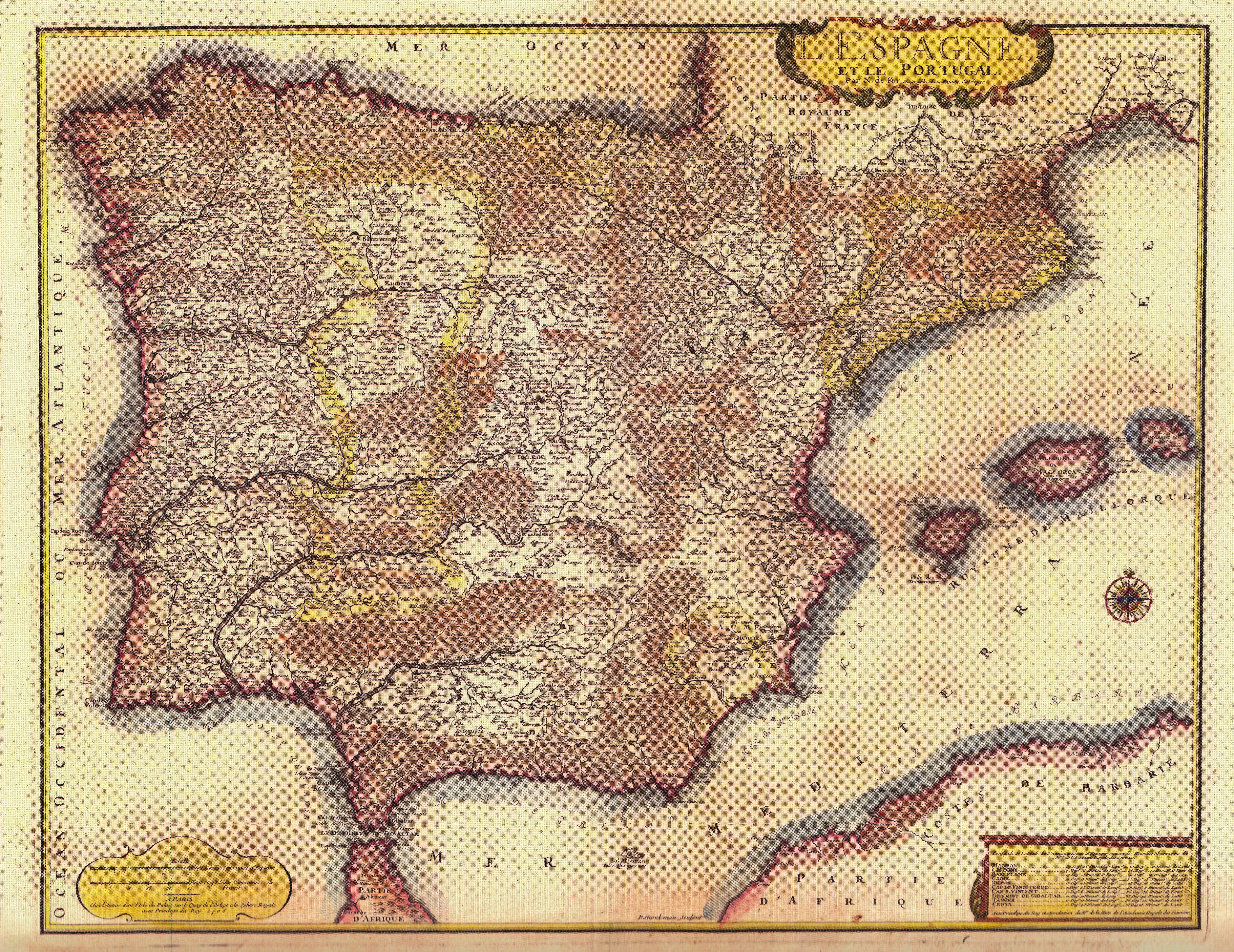 Mapa de 1705 de Nicolas de Fer