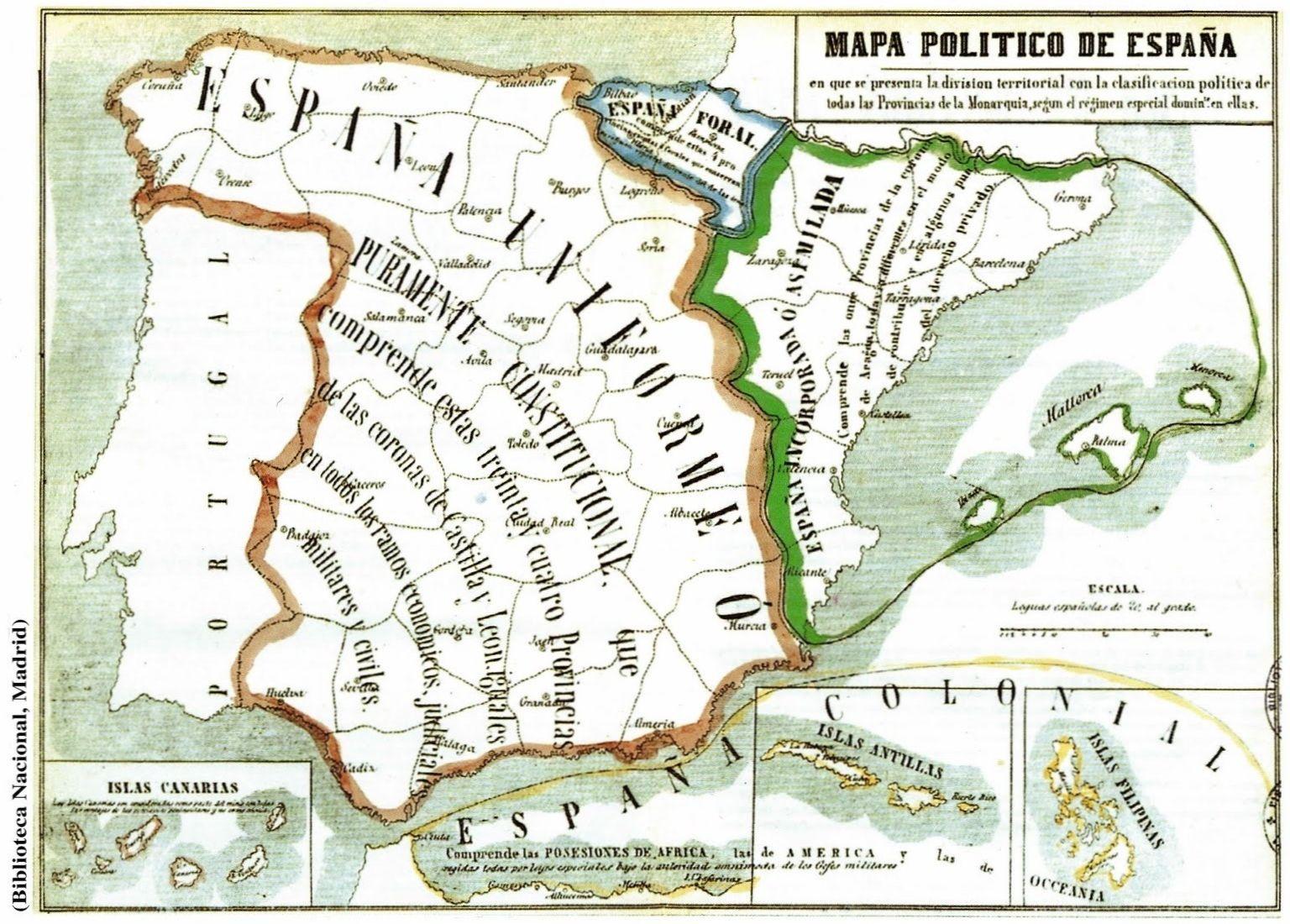 Mapa de 1854