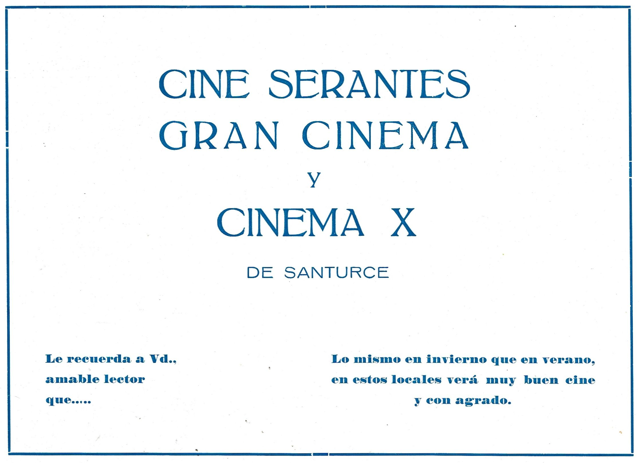 Publicidad Cines 1963