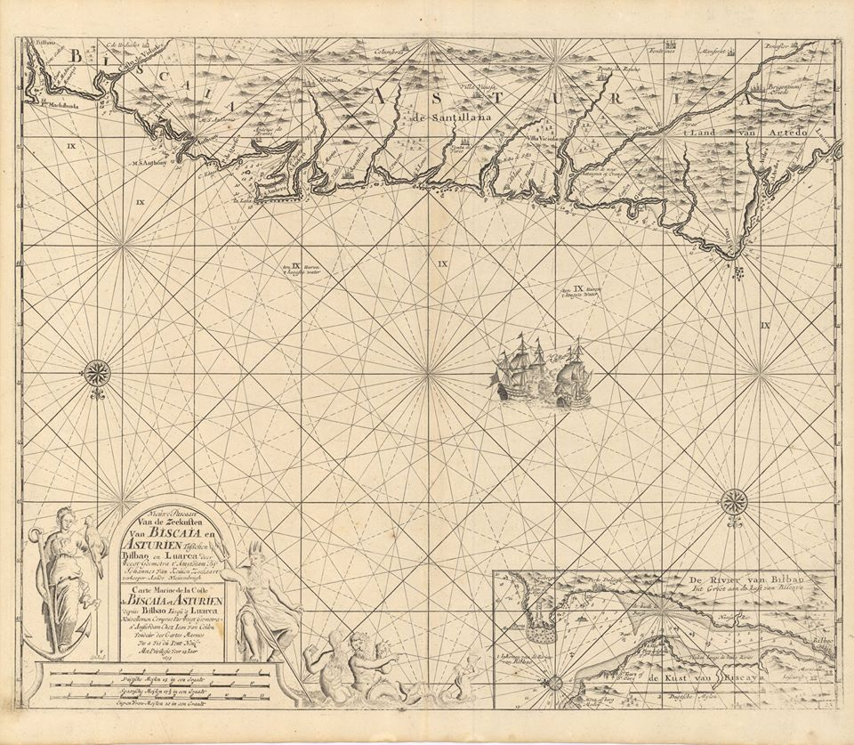 Carta náutica de 1695