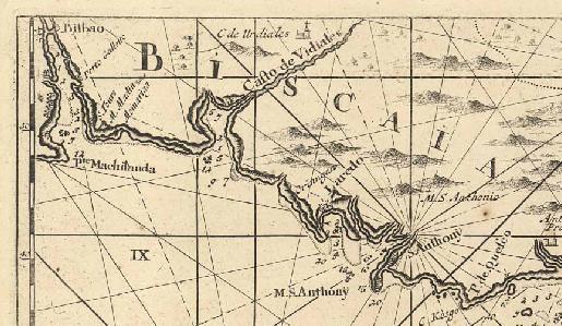 Detalle de carta de 1695