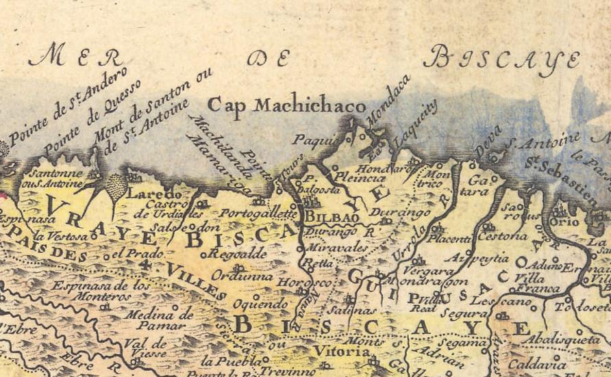 Detalle del mapa de Fer de 1705