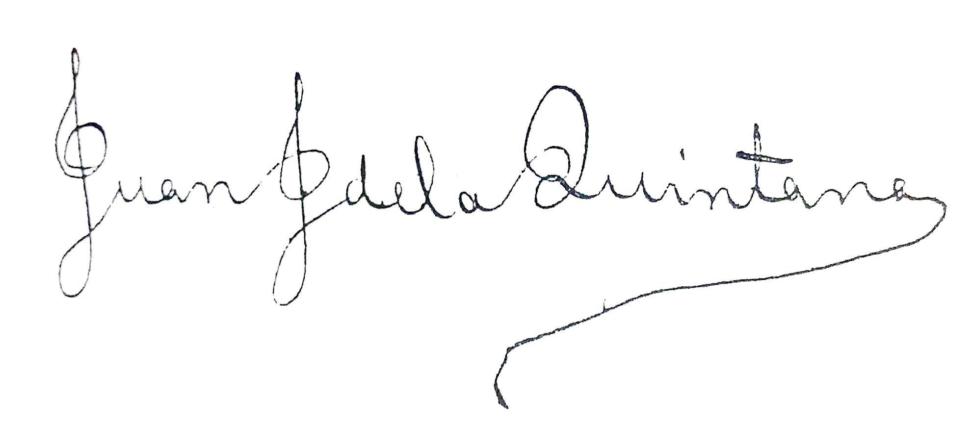 Firma Juan José de la Quintana