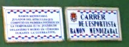 Placa Ramón Mendizabal