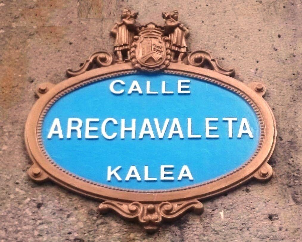 Placa Calle Aretxabaleta en Bilbao