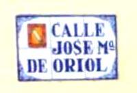 Placa Calle José María Oriol