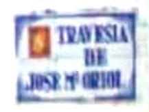 Placa Travesía José María Oriol en Almaraz
