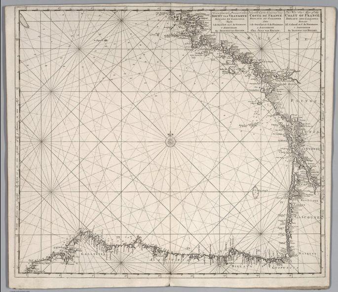 Nieuwe Generale Paskaart vande Bocht van Vrankryk Biscaia en Gallissia 1680