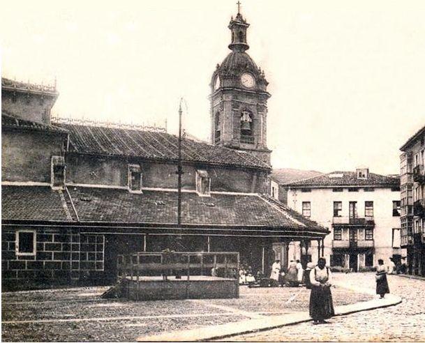 Kiosko Iglesia San Jorge en 1900 (probable) lado norte