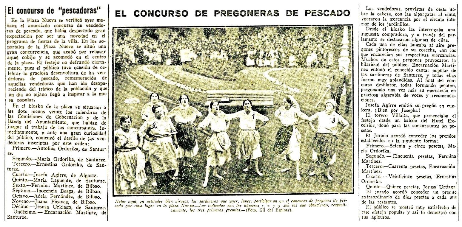 concurso Pregoneras 18-08-1930